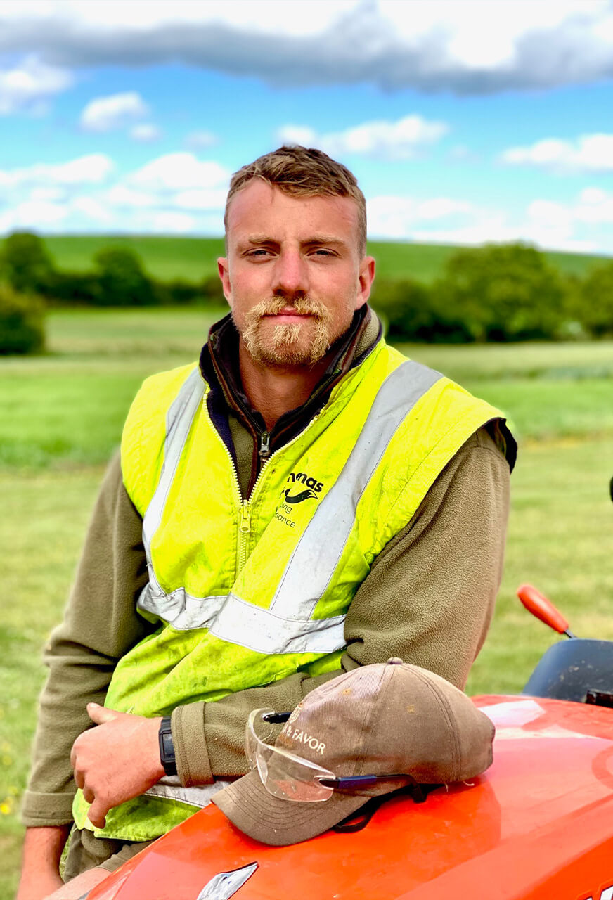 Oli Jones of Thomas Fox Landscaping